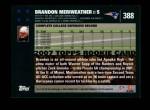 2007 Topps #388  Brandon Meriweather  Back Thumbnail