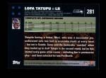 2007 Topps #281  Lofa Tatupu  Back Thumbnail