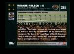 2007 Topps #386  Reggie Nelson  Back Thumbnail