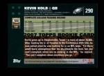 2007 Topps #290  Kevin Kolb  Back Thumbnail