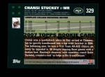 2007 Topps #329  Chansi Stuckey  Back Thumbnail