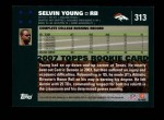 2007 Topps #313  Selvin Young  Back Thumbnail