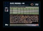 2007 Topps #252  Alex Brown  Back Thumbnail