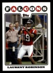 2008 Topps #123  Laurent Robinson  Front Thumbnail