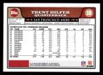2008 Topps #16  Trent Dilfer  Back Thumbnail