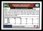 2008 Topps #163  Deion Branch  Back Thumbnail
