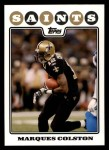 2008 Topps #137  Marques Colston  Front Thumbnail