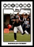2008 Topps #157  Ronald Curry  Front Thumbnail