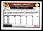 2008 Topps #132  Donald Driver  Back Thumbnail