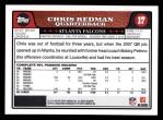 2008 Topps #17  Chris Redman  Back Thumbnail