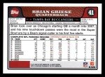 2008 Topps #41  Brian Griese  Back Thumbnail