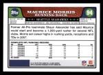 2008 Topps #94  Maurice Morris  Back Thumbnail