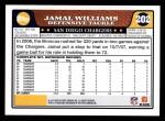 2008 Topps #202  Jamal Williams  Back Thumbnail