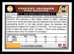 2008 Topps #168  Vincent Jackson  Back Thumbnail