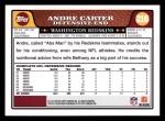 2008 Topps #216  Andre Carter  Back Thumbnail