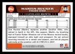 2008 Topps #382  Martin Rucker  Back Thumbnail