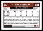 2008 Topps #344  Harry Douglas  Back Thumbnail