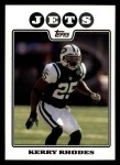 2008 Topps #269  Kerry Rhodes  Front Thumbnail