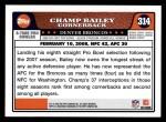 2008 Topps #314   -  Champ Bailey Pro Bowl Back Thumbnail