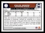2008 Topps #349  Felix Jones  Back Thumbnail
