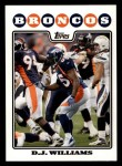 2008 Topps #226  D.J. Williams  Front Thumbnail