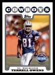 2008 Topps #302   -  Terrell Owens Pro Bowl Front Thumbnail