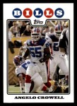 2008 Topps #240  Angelo Crowell  Front Thumbnail