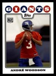 2008 Topps #333  Andre Woodson  Front Thumbnail