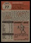 1953 Topps #77  Johnny Mize  Back Thumbnail