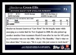 2009 Topps #71  BenJarvus Green-Ellis  Back Thumbnail