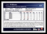 2009 Topps #47  D.J. Williams  Back Thumbnail