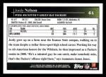 2009 Topps #61  Jordy Nelson  Back Thumbnail