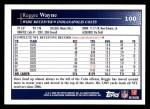 2009 Topps #100  Reggie Wayne  Back Thumbnail