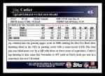 2009 Topps #45  Jay Cutler  Back Thumbnail