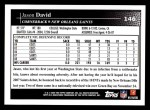 2009 Topps #146  Jason David  Back Thumbnail