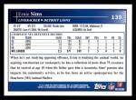 2009 Topps #139  Ernie Sims  Back Thumbnail