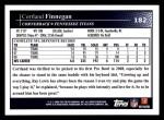2009 Topps #182  Cortland Finnegan  Back Thumbnail