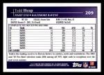 2009 Topps #209  Todd Heap  Back Thumbnail