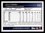 2009 Topps #279  Brian Urlacher  Back Thumbnail