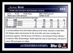 2009 Topps #355  Kenny Britt  Back Thumbnail