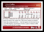 2009 Topps #372  Glen Coffee  Back Thumbnail
