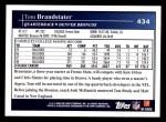 2009 Topps #434  Tom Brandstater  Back Thumbnail