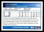 2009 Topps #407  Mike Goodson  Back Thumbnail