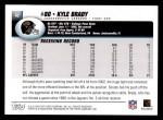 2004 Topps #42  Kyle Brady  Back Thumbnail