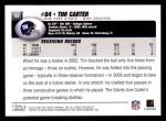 2004 Topps #93  Tim Carter  Back Thumbnail