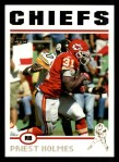 2004 Topps #100  Priest Holmes  Front Thumbnail