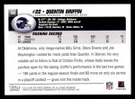 2004 Topps #158  Quentin Griffin  Back Thumbnail