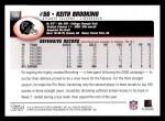 2004 Topps #129  Keith Brooking  Back Thumbnail