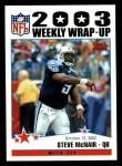 2004 Topps #296   -  Steve McNair Weekly Wrap-Up Front Thumbnail