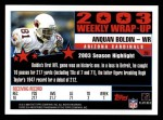 2004 Topps #291   -  Anquan Boldin Weekly Wrap-Up Back Thumbnail